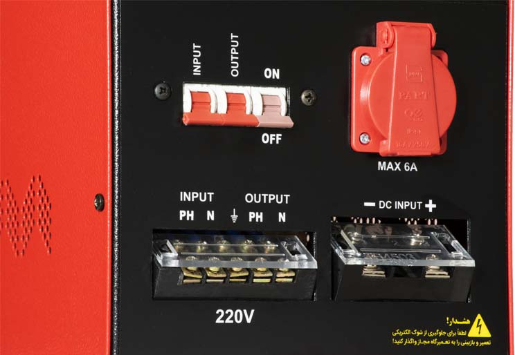 عکس اتصالات پشت دستگاه یو پی اس ایرانی سونر